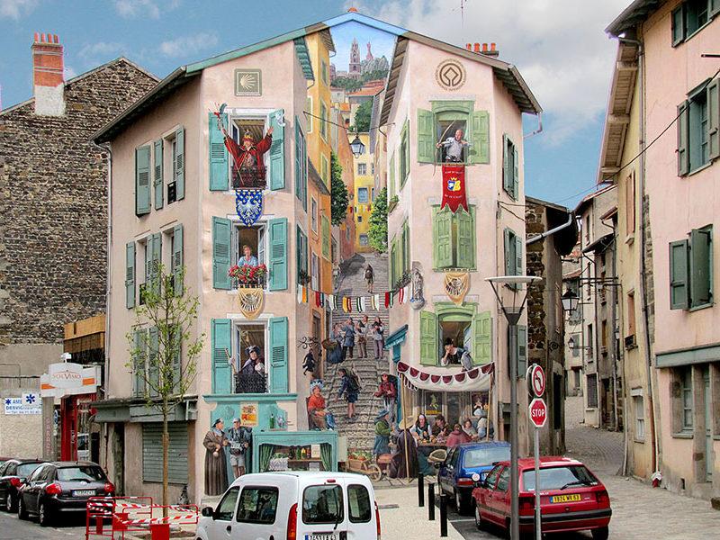 Accueil - A Fresco. Fresque Le Puy en Velay - après