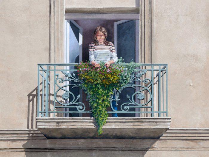 Place Antoine Emile Moulin - Femme au balcon